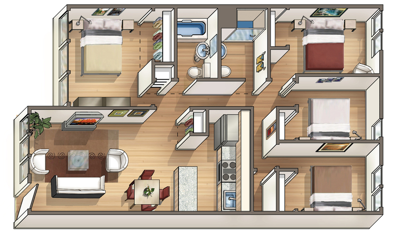 Waena Apartment Floor Plan Kalei