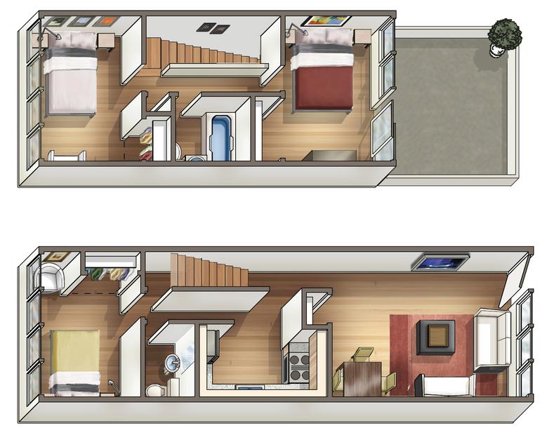 Waena Apartment Floor Plan Kapua