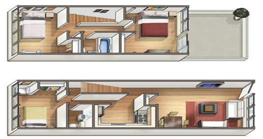 Waena Apartment Floor Plan Leilani