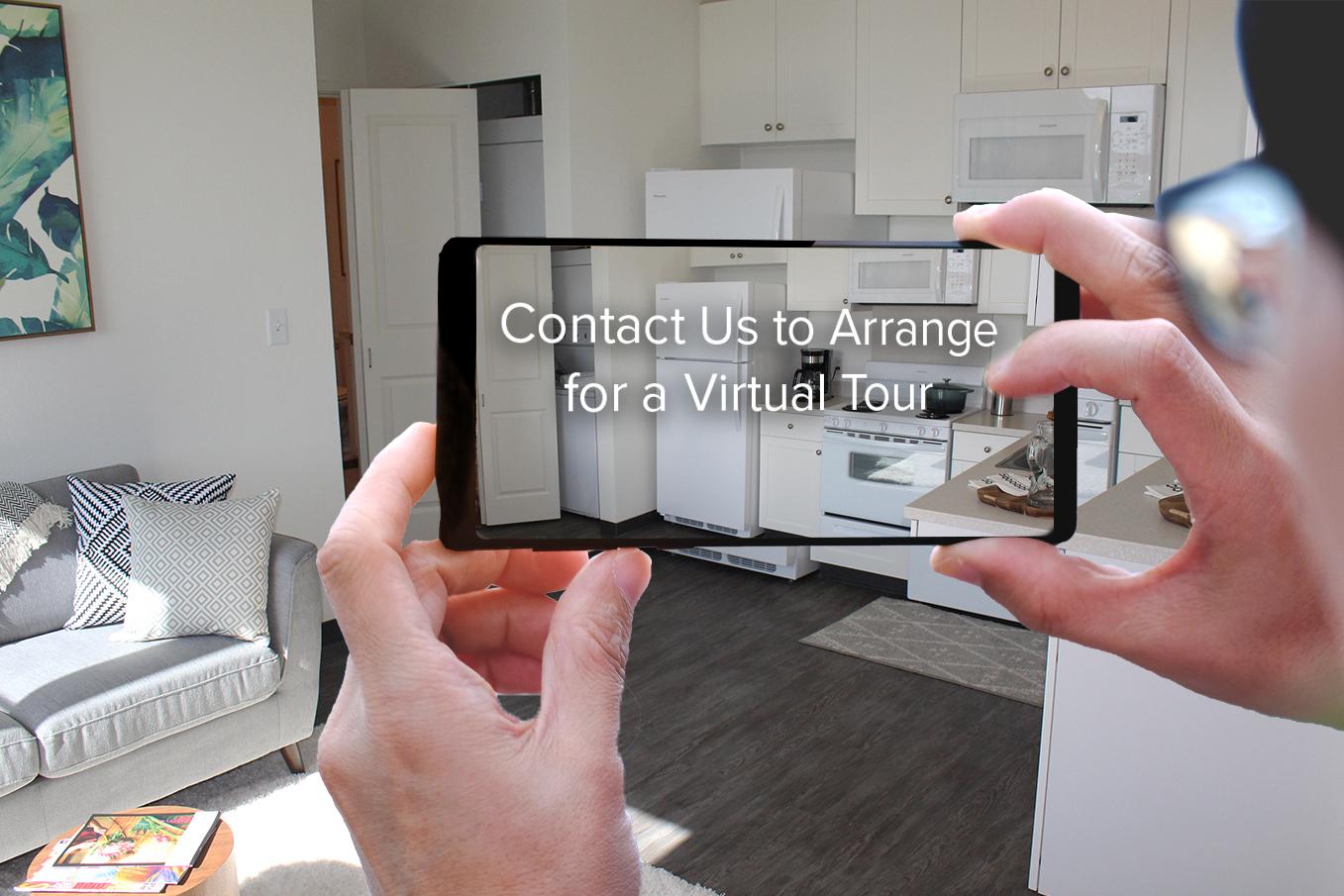 phone shows virtual tours