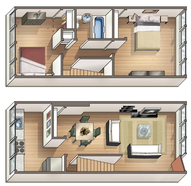 Waena Apartment Floor Plan Pikake