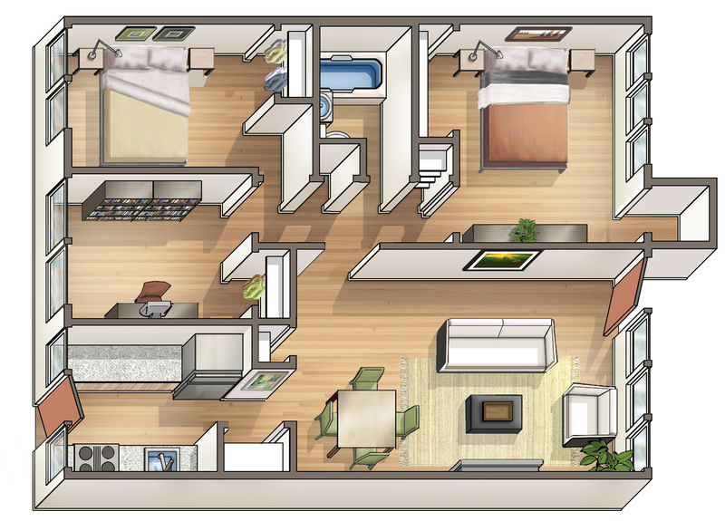Waena Apartment Floor Plan Plumeria