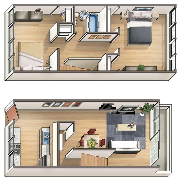Waena Apartment Floor Plan Pualani
