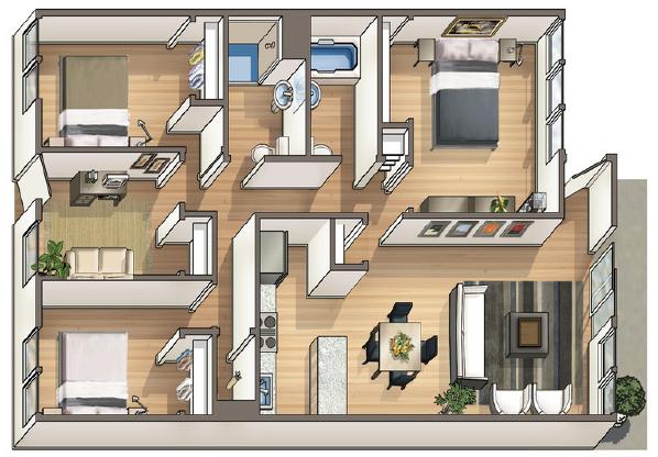 Waena Apartment Floor Plan Alani
