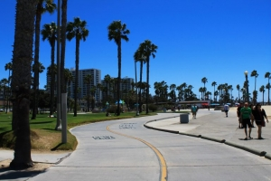 Santa Monica bike path