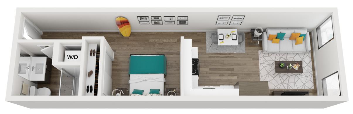 Alcove One Bedroom floor plan