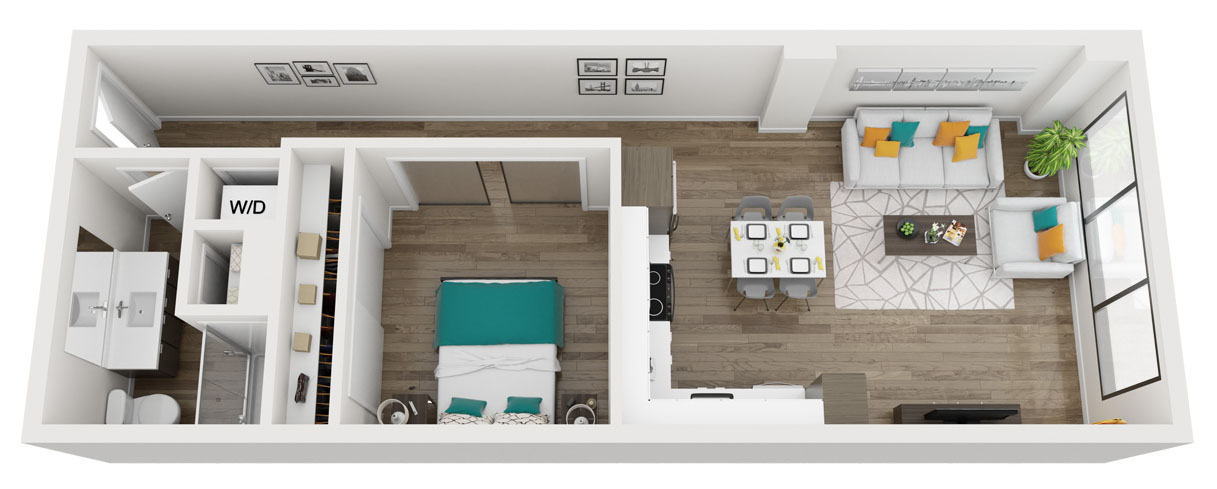 Urban One Bedroom apartment