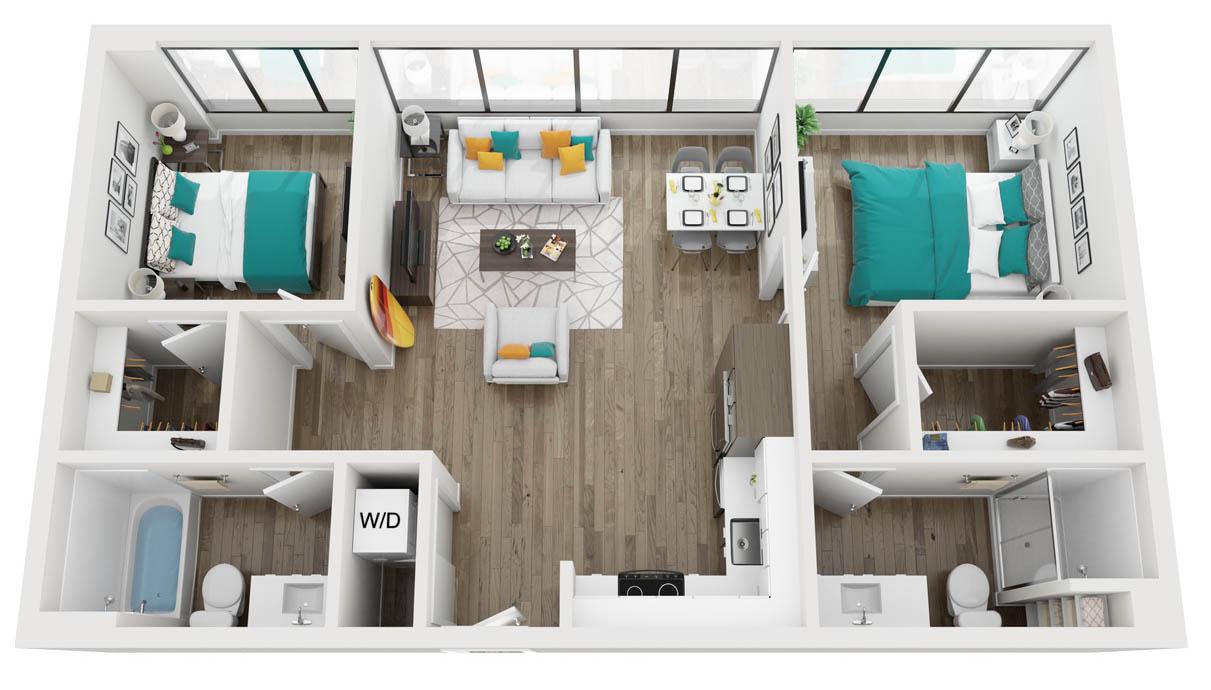 2 Bedroom / 2 Bath apartment