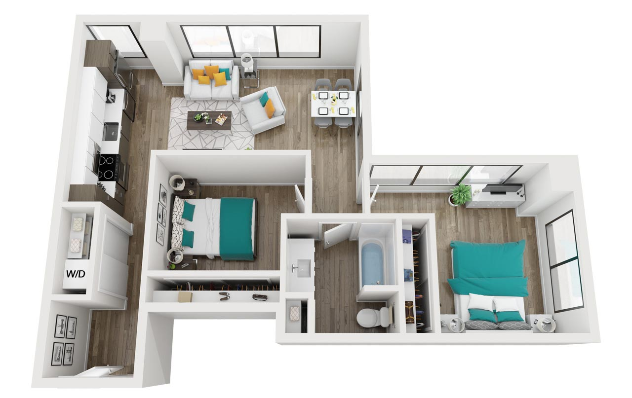 Two Bedroom / One Bath Apartment