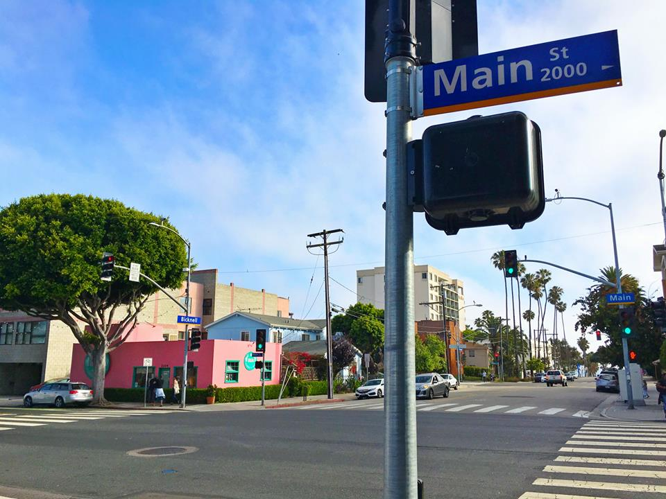 street sign says Main Street
