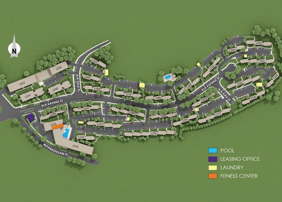 Property Map of Moanalua Hillside Apartments