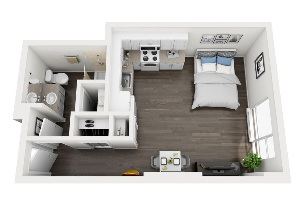 Big Island Studio apartment floor plan