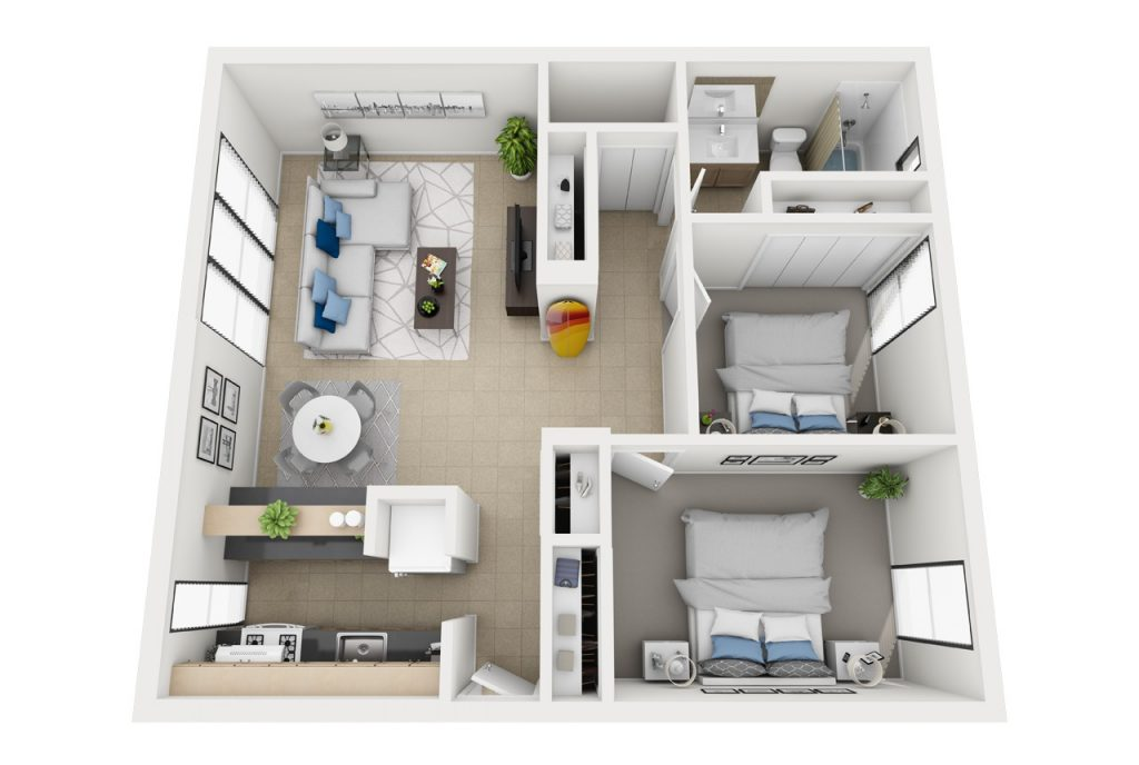 The Duke - Two bedroom apartment floor plan