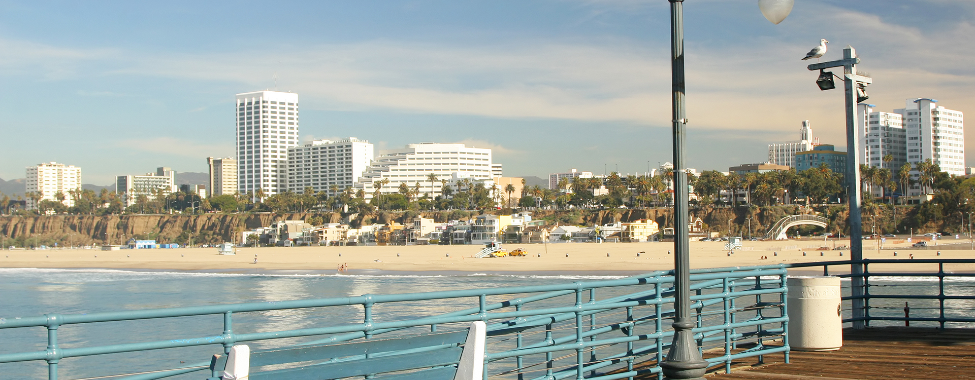 Pacific Plaza apartments view from Santa Monica Pier
