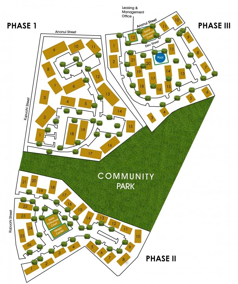 Property Map of Villas at Royal Kunia